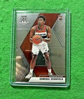 ADMIRAL SCHOFIELD SILVER CHROME ROOKIE CARD WIZARDS 2019-20 MOSAIC BASKETBALL RC
