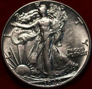 Uncirculated 1942 Philadelphia Mint Silver Walking Liberty Half