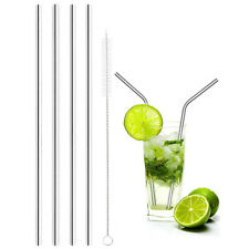 Useful Stainless Steel Straws Reusable 8.5 inch Short Silver Drinking Straws JB