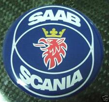 "3d domed 1,9"" Saab Hood badge emblem decal 900 9-3 93"