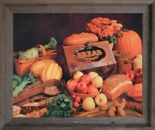 Food and Bread Still Life Kitchen Wall Decor Barnwood Framed Art Print Picture
