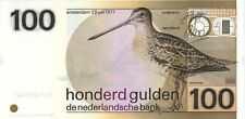 Netherlands 100 gulden 1977 UNC (snipe)