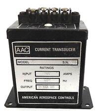 AMERICAN AEROSPACE CONTROLS AAC MODEL C5 CURRENT TRANSDUCER 0-5 AMPS, 60HZ