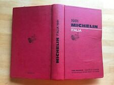 Guide Michelin Italia 1981