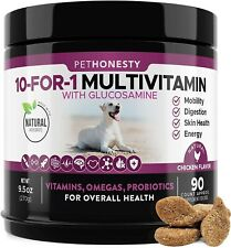 10 in 1 Dog Multivitamin with Glucosamine, Probiotics & Omega Fish Oil - Chicken