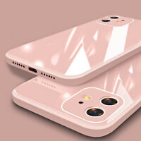 Luxury Back Liquid Tempered Glass Case Cover For iPhone 11 Pro Max XR X 8 7 Plus