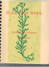 Flax and Wool Christian and Johannes Zinzendorf free ship