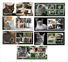 DOMESTIC CATS CAT 21 SOUVENIR SHEETS MNH IMPERFORATED