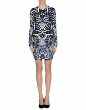 NWT MCQ ALEXANDER MCQUEEN blue kalaidescope stretch dress size L