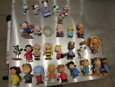 Lot of 32 The Peanuts/Charlie Brown and Pieces Figures & Dvd