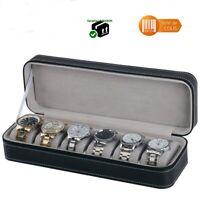 Coffret - Boîte de rangement pour montres - Présentoir / étui à montre 6 places