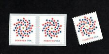 5130-31 5131 Patriotic Spiral Forever Set ( PAIR & SINGLE NO CONNERS) 2016 MNH