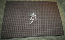 """""""Browning"""" Inspired Microfiber Brown Dish Drying Mat w/tan machine embroidered"""