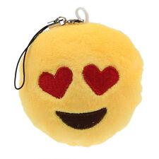 Cute Emoji Smiley Emoticon Heart Eyes Key Chain Soft Toy Gift Pendant Bag Y5