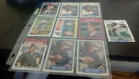 Cleveland Indians 10 card lot, Bert Blyeven Andre Thornton Julio Franco