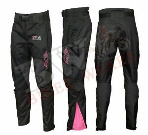 Ladies Motorbike Motorcycle Waterproof Padded Textile Trousers Pants Armours