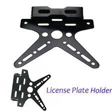 Universal Tail Tidy Motorcycle Aluminum Alloy Black License Plate Bracket Holder