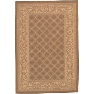 Couristan Recife Garden Lattice Cocoa & Natural Indoor/Outdoor Rug