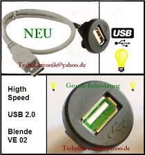 USB Einbaubuchse BELEUCHTUNG 150cm passend für Fokus CRV Civic Bravo Punto S2000