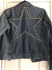 Buffalo By David Bitton Jean Denim Jacket With Star Studs Size M
