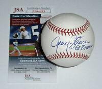 1982 BREWERS Jerry Augustine signed baseball w/ 82 Brewers JSA COA AUTO Autograp