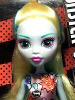 "Lot of 2 - 1 Monster High 12"" Lagoona Blue Doll & 1 Mega Bloks 18 Piece Logoona"