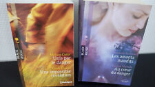 2 livres Collection Black Rose éditions Harlequin Les amants maudits, Au coeur