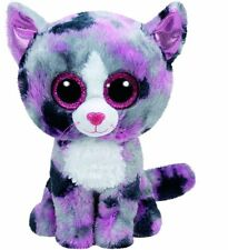 "Ty Beanie Boos Lindi the Cat  6"" Small Stuffed Glitter Eye -New"