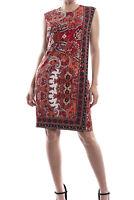Joseph Ribkoff Red/Black/Gold Sequin Sleeveless Dress Size 10 (UK 12) New 173677