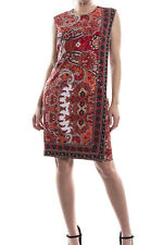 Joseph Ribkoff Red/Black/Gold Sequin Sleeveless Dress Size 8 (UK 10) New 173677