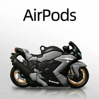 For Apple AirPods Pro 1 2 Cute Case 3D Motorcycle Soft Silicone Protective Cover
