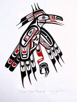Pacific Northwest Art - Original Paintings - Haida Spirit Birds