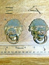 Antique Sessions Lions Head Clock Case Handles (Lot K1588)