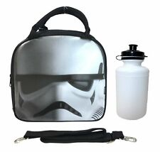 Disney Star Wars Episode VII Storm Trooper Box Insulated Lunch Bag Water Bottle