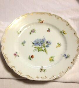 C F Haviland, Gerard, Dufraisseix & Morel Limoges Vintage Plate W/Blue Floral