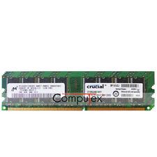 New Micron 4GB 4X1GB PC3200U DDR-400Mhz 2.5V Non-ECC Desktop Computer RAM Memory