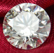 Unheated White Sapphire 8mm 3.12Ct Round Faceted Cut AAAAA VVS Loose Gemstone