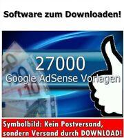 ★27000 HTML TEXT VORLAGEN Website für Google Adsense zum Geld verdienen E-LIZENZ