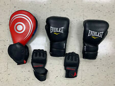 Boxing Gloves, Mma Gloves and Tae Know Do Kicking Pad (All Used)