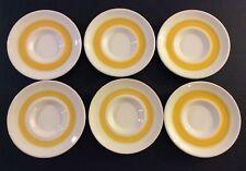 "Franciscan Sundance 5 5/8"" Saucer Plates Set Of 6 Sunny Yellow-Gold Spirals"