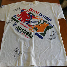 Rugby League World Cup Final T Shirt XL 1992 Signed