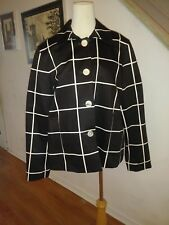 Classy Lauren Ralph Lauren Women's Deep Brown Checkered Loose Fitted Jacket L