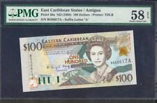 ND (1998) EAST CARIBBEAN STATES ANTIGUA $100 PICK #36a PMG 58 LQQK!!*