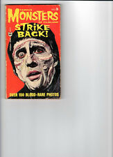 Wow! Famous Monsters Of Filmland Strike Back Pocket Book Early Reprints! Rare!