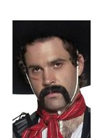 MOUSTACHE MEXICAN HANDLEBAR SELF ADHESIVE FANCY DRESS STICK ON - SMIFFY'S 31130