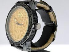 Mens Diamond Maxx/Aqua Master Yellow Finish Genuine Diamond Watch Side Crystals