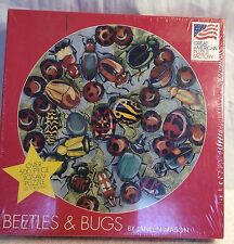 New 500 Piece Round Jigsaw Puzzle - Beetles & Bugs by Janeen Mason