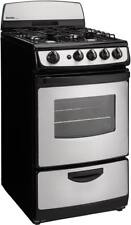 "Danby Dr201Bssglp 20"" 2.4Cf Freestanding Gas Range Black with Stainless Steel"