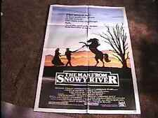 MAN FROM SNOWY RIVER MOVIE POSTER '82 CULT FAVE