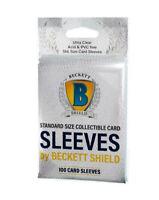 100 BECKETT SHIELD SOFT TRADING CARD PENNY SLEEVES BASEBALL MAGIC POKEMON NFL